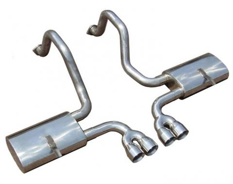 Pypes Cat Back Exhaust System 97-04 C5 Corvette Split Rear Dual Exit Tailpipe 2.5 in Hardware/Violators Muffler/Quad 3.5 in Polished Tips Incl Natural Finish 304 Stainless Steel Exhaust SCC51VS