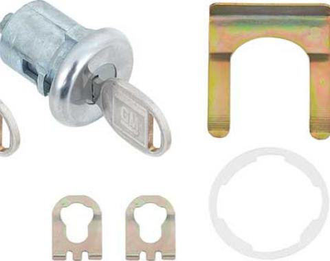 OER 1962-86 GM Car, Truck, Door Lock and Key Set, Pre-Coded, with Later Style Round Key TK109