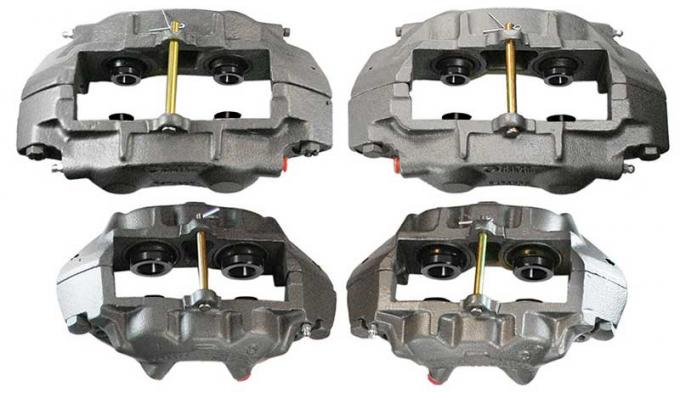 OER 1965-82 Corvette Set of 4 Calipers with Stainless Steel Sleeves and O-Ring Seals YC110724