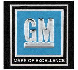 """OER 1968-72 GM Cars & Trucks - """"GM Mark of Excellence"""" Seat Belt Buckle Decal - Blue 9980012"""