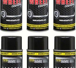 """OER Argent Silver """"Factory Wheel Coating"""" Wheel Paint Case of 6- 16 Oz Cans *K89321"""