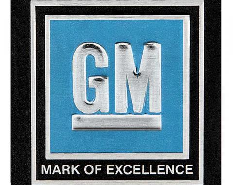 "OER 1968-72 GM Cars & Trucks - ""GM Mark of Excellence"" Seat Belt Buckle Decal - Blue 9980012"