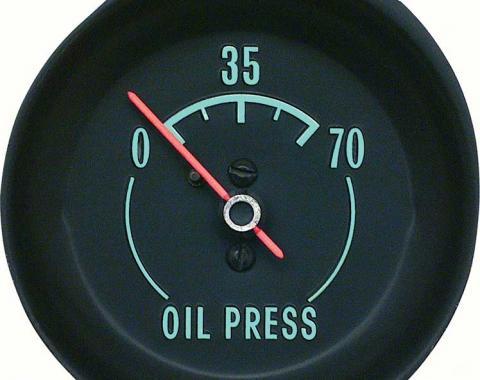 OER 1968-71 Corvette Oil press Gauge - With Green Markings 6462928A