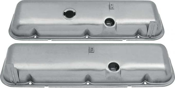 OER Chevrolet 396-454 Big Block with Manual Brakes Valve Covers with Oil Drippers - Paintable VC1220