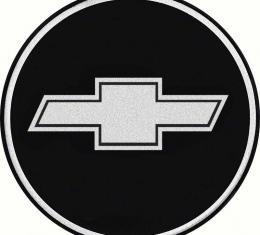 "OER 2-1/2"" Wheel Center Cap Emblem with Chrome Bow Tie Logo on a Black Background K151710BK"