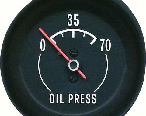 OER 1972-73 Corvette Oil press Gauge - With White Markings 6462928W