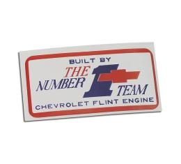 Corvette Decal, Valve Cover Flint #1, 1967