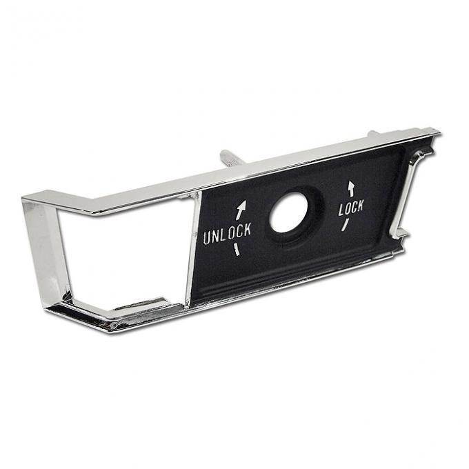 Corvette Door Panel Lock Knob Trim Plate, Right, 1968-1977