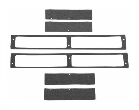 Corvette Body Vent Seal Kit, Rear, 1968