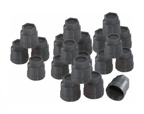 Corvette Plastic Lug Nut Caps, Factory Style, Gray, 1986-1990