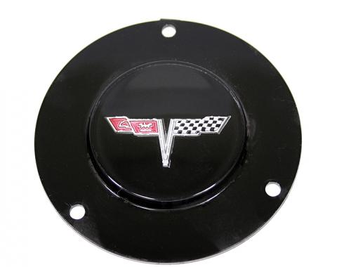 Corvette Horn Button Emblem, With Tilt/Telescopic Column, 1977 & 1979-1981