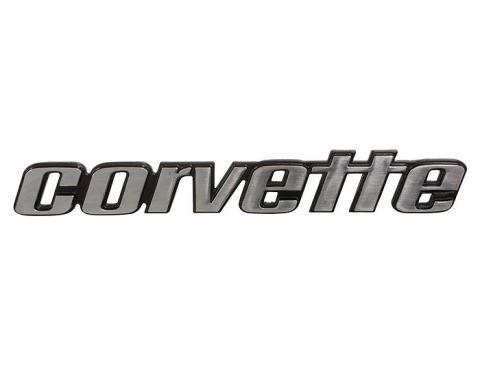 Corvette Bumper Emblem, Rear, 1976 Early