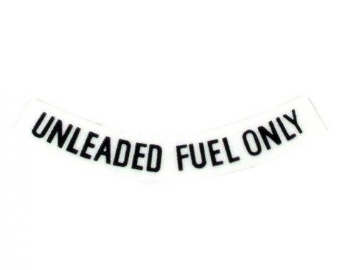 Corvette Decal, Fuel Warning Black, 1975-1977