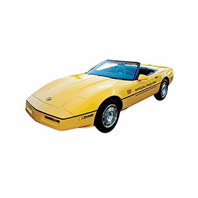 Corvette Gold Official Pace Car Decal Kit, With Black 70th, 1986