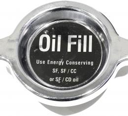Corvette Oil Filler Cap, Chrome, 1965-1981