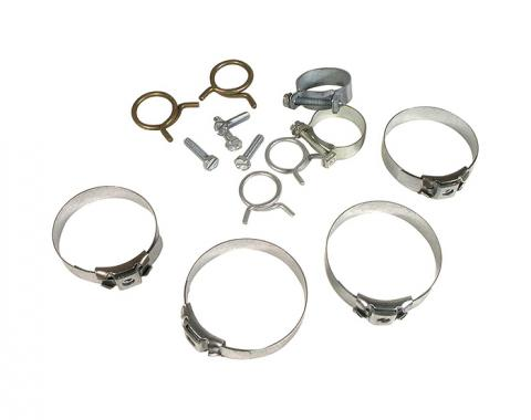 Corvette Hose Clamp Kit, 427, W/O Air Conditioning, 10 pc, 1968Early
