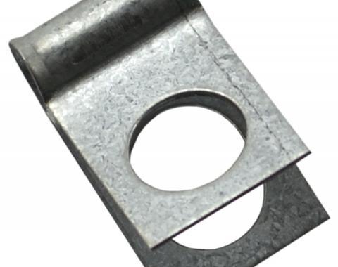 "Brake & Fuel Line Clamp, 3/16"" Line Clip 3/8"" Bolt Hole"