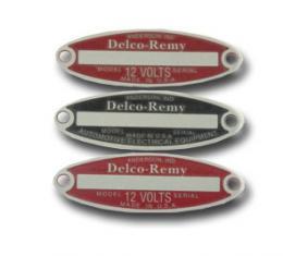 Corvette Delco Tag Set, 3 Piece Unstamped, 1953-1962