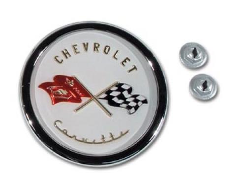 Corvette Emblem, Nose Assembly, 1953-1955