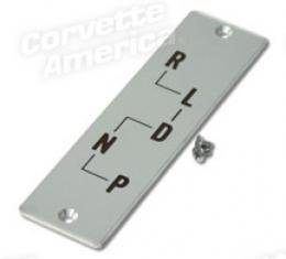Corvette Shift Indicator Plate, Auto with Screws, 1956-1957